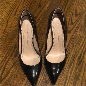 Black patent heels